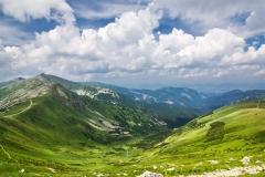 Summer mountain ridge-National park Low Tatras-Slovakia/Europe